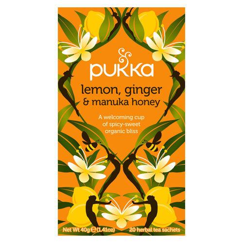Pukka Lemon, Ginger & Manuka Honey Te (20 påsar)