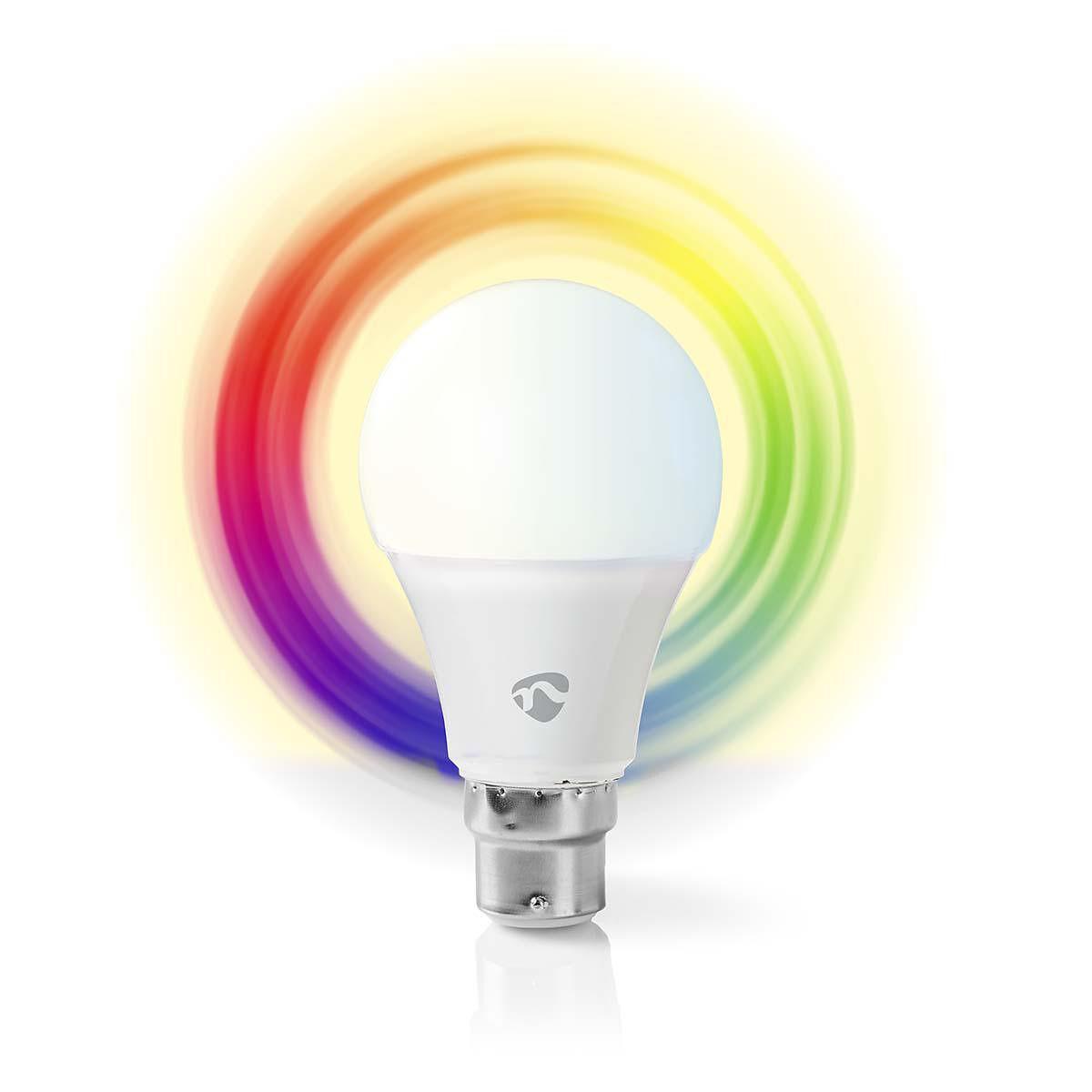 Nedis WiFi Smart LED-lampa B22 - Fullfärg och varmvitt
