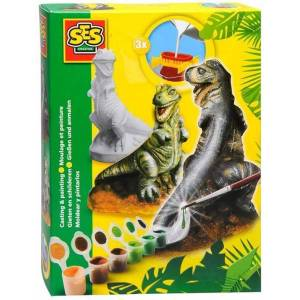 Creative SES Gjut och måla T-Rex Dinosaurie