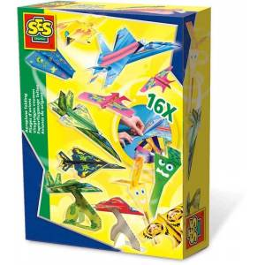 Creative SES Flygplansorigami Origamipapper Pyssel