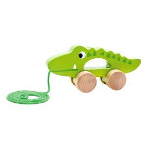 Tooky Toy Dragleksak i trä krokodil