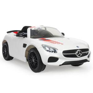 Injusa Elbil Med Handkontroll barn Vit Mercedes AMG GT-S 12 volt - Injusa