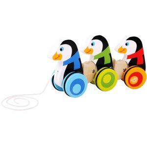 Tooky Toy Pingviner i trä dragleksak för barn
