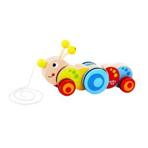 Tooky Toy Dragleksak Larv i trä