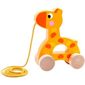Tooky Toy Giraff Dragleksak i trä