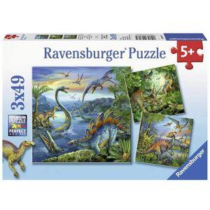 Ravensburger Barnpussel Dinosaurie 3 x 49 cm