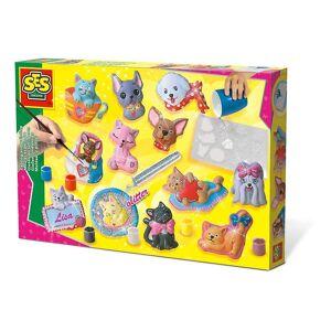 Creative SES Creative : Gjutning och målning Katter och hundar Multi-Färg (1154)