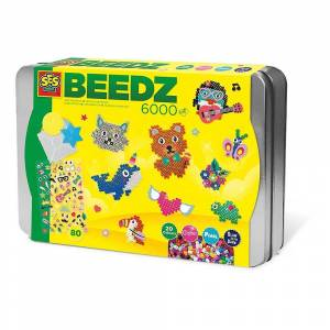 Creative SES Creative Children's Beedz Sortering Box Mosaic Set 6000 Iron-on Pärlor Mix 6139
