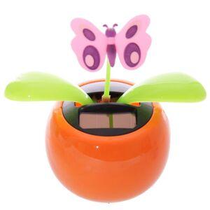 Puckator nyhet Solar Pal prydnad, Orange fjäril Multi