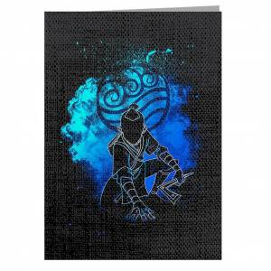 Cloud City 7 Waterbender Soul Brother Avatar gratulationskort Svart 14.5 x 21cm