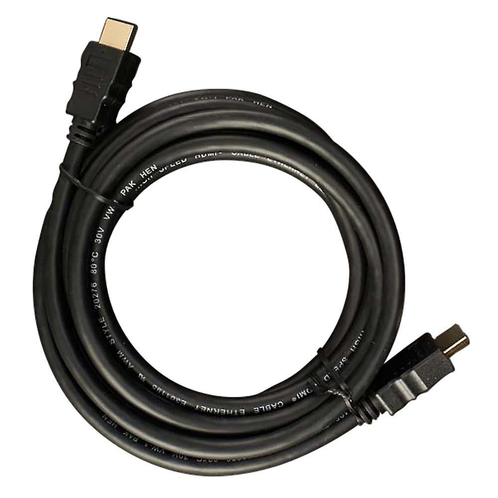 Dencon HDMI - HDMI-kabel Svart 3m