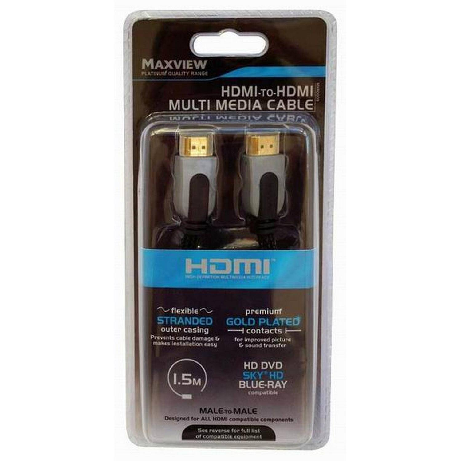 MaxView HDMI till HDMI Multimedia kabel