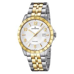 Candino schweiziska C4514-3 Men's Två ton armbandsur med datum