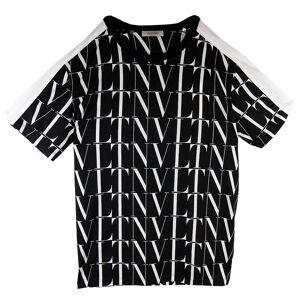 Valentino Logo Times Tryck T Shirt Svart /vit Svart/vit M