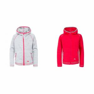Trespass Childrens flickor godhet Full Zip Hooded fleecejacka Lila orkidé Marl 7-8 Years