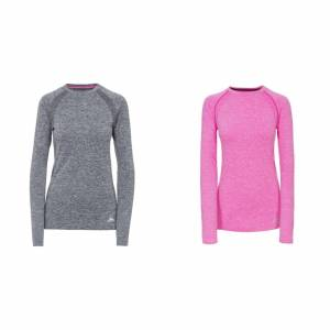Trespass Womens/damer Welina lång ärm Active topp Berry lila XL