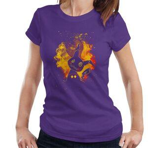 Cloud City 7 Mimikyu Ghost Fairy kvinnor ' s T-shirt Lila X-Large