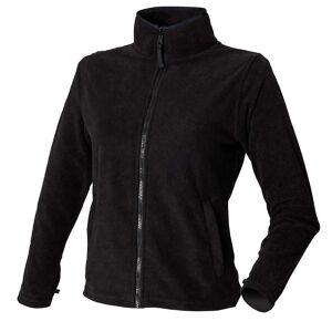 Henbury Womens Full Zip MicroFleece jackor Lila M - UK Size 12. 35.5