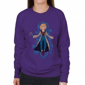 Cloud City 7 Doctor Who Trettonde Doctor Pixel Art Women's Sweatshirt Lila Large