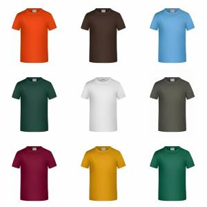 James Nicholson James och Nicholson Childrens pojkar Basic T-Shirt Svart XL