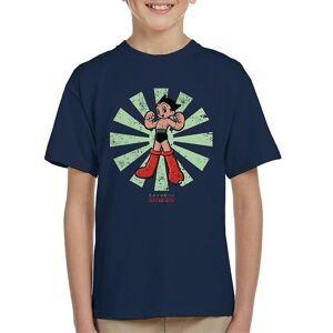 Cloud City 7 Astro Boy Retro japanska Kid's T-shirt Marinblå X-Large (12-13 yrs)