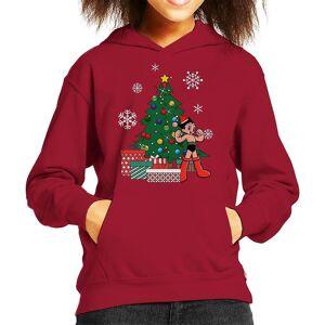 Cloud City 7 Astro Boy runt julgranen Kid&apos,s Hooded Sweatshirt Cherry Red Large (9-11 yrs)