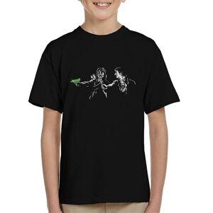 Cloud City 7 Pulp Jakt Frog Brothers Lost Boys Pulp Fiction Mashup Kid & apos; s T-shirt Svart Medium (7-8 yrs)