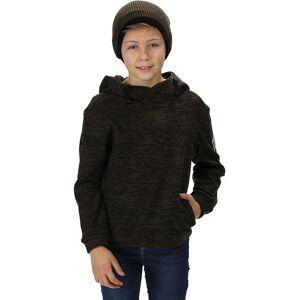 Regatta Boys Keyon Stripe Fleece Hooded Dragsko Varm Hoodie Sten grå 7-8 Years - Chest 63-67cm