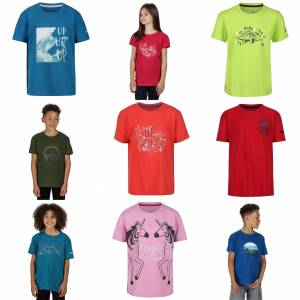 Regatta Childrens / Kids Bosley III Tryckt T-shirt Eldig Coral 3-4 Years