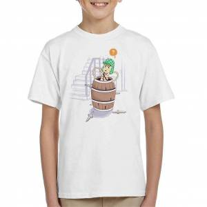 Cloud City 7 Up Boy Kid ' s T-shirt Vit Medium (7-8 yrs)