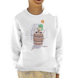 Cloud City 7 Up Boy Kid ' s tröja Vit Medium (7-8 yrs)