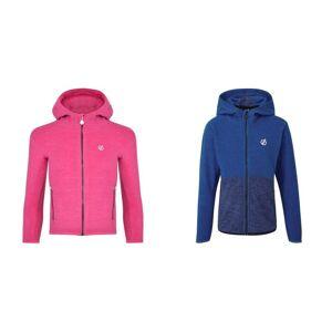 Regatta Childrens / Barn Unisex Genesis Fleece Neon Rosa/Mörk Denim 3-4 Years