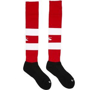 Canterbury Clothing Canterbury herrlag Hoop / rand mönster Nylon blandning Rugby Strumpor Skog / vit XL - UK 14-16, EU 49.5+, US 15+