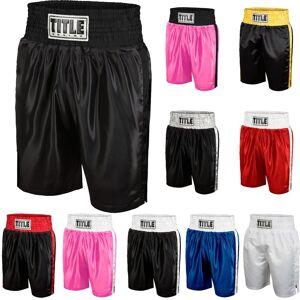 Title Boxing Titel boxning klassiska kanten Satin prestanda boxning stammar Svart/vit XL