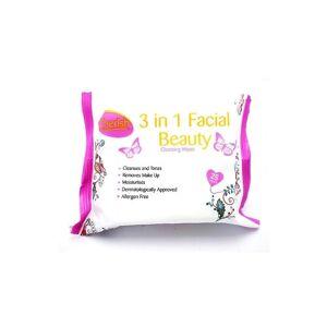 Cherish 3-i-1 Facial rengöringsservetter-förpackning med 25 25 Wipes