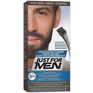Just For Men Bara för män 3 X bara för män borste i ansiktshår färg-M55 Real Black 42g