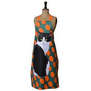 Leslie Gerry svart & vit katt Design förkläde Multi