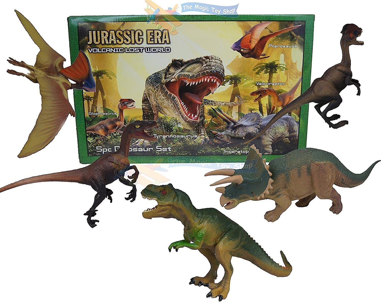 Kandy Toys 5Pc plast dinosaurie T Rex djur spela leksak åtgärder siffror Box b...