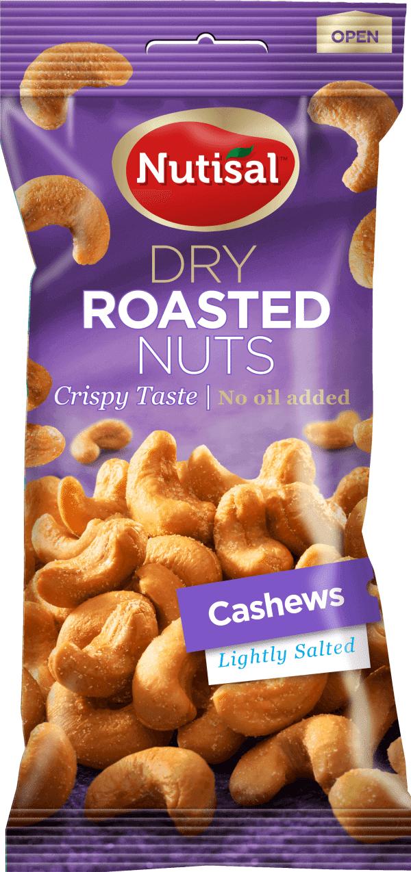 Nutisal Dry Roasted Cashews Lightly Salted 60g