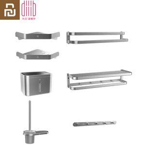 Youpin Dabai Bathroom 7 in 1 sets for Towel Rack Bar Hook Up Storage Rack Tissues Box Toilet Brush Holder for Shower Room