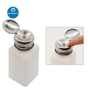 Plastic Bottle Alcohol Bottle 100ml/200ml/250ml Storage Cleaner Soldering Paste Flux Press Metal Cap for Phone Tablet PC Repair