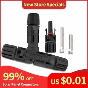 1Pair of Solar Connector Solar Solar Plug Cable Connectors (male and female) for Solar Panels and Photovoltaic Systems