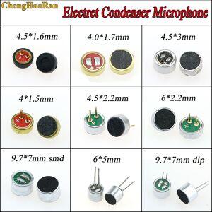 1PCS 9.7mm x 7mm/6x5 mm/6 x 2.2 mm/4.5*2.2 mm/4*1.5mm/4.5*1.6mm/4*1.7mm 2 Pin MIC Capsule Electret Condenser Microphone dip smd