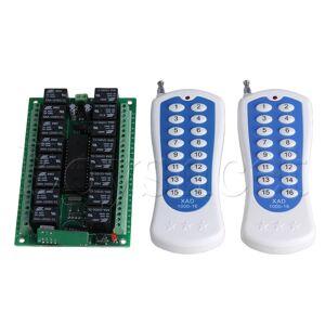 12V 16CH 150M Inching Remote Control 2 Switch 16-Key 433MHZ 4 Receiver
