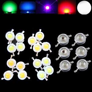 100pcs Lot 1W 3W Watt CREE High Power LED Light-Emitting Diode LEDs Chip SMD Spot Light Downlight Lamp Bulb For DIY RGB