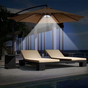 Home Garden Outdoor Lighting LED Solar Umbrella Lights Yard Umbrella Lamp For Camping Tent Lights Support USB Charging