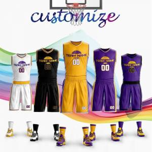 Adult&Kids Bryant NO.24 Basketball Jerseys Custom Sport Uniform for Team Club James NO.23 Los Angeles USA LA Jerseys