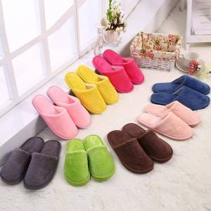 Women Men Shoes Slippers Men Warm Home Plush Soft Slipper Indoors House Home Furry Slippers Anti-slip Winter Floor Bedroom Shoes