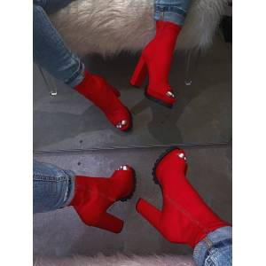 Women Zip Peep Toe Leopard Ankle Boots Autumn New Ladies Snake Pattern Platform Thick High Heels Female Fashion Spring Shoes