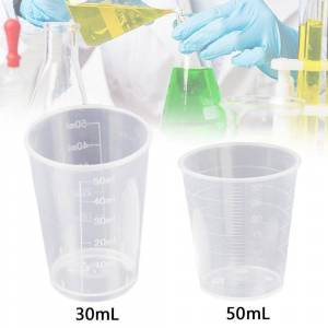 100ml Measuring Cup Plastic Resin Glue Tools Kitchen Cooking Baking Measuring Tools Baking Beaker Liquid Measure Container